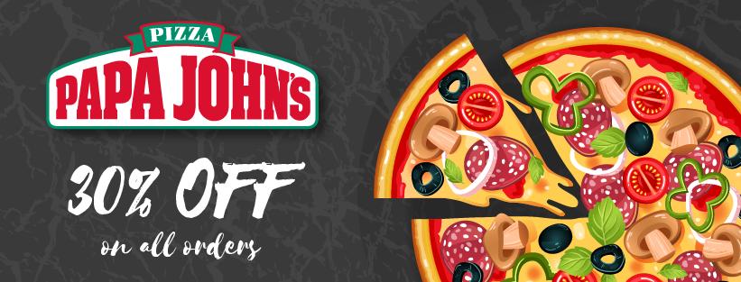 30 Off Papa John S Pizza Get Coupons Promo Codes November 2020