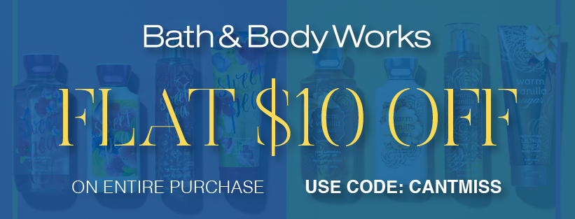 50 Off Bath And Body Works Coupon Promo Code November 2020